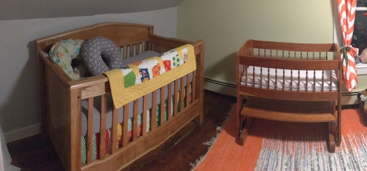 New bed and old crib